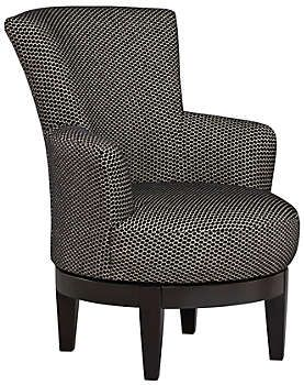 swivel chair regal chairs with casters justine accent living room pinterest this 360 degree will command the attention of any a high back and flared ends evokes