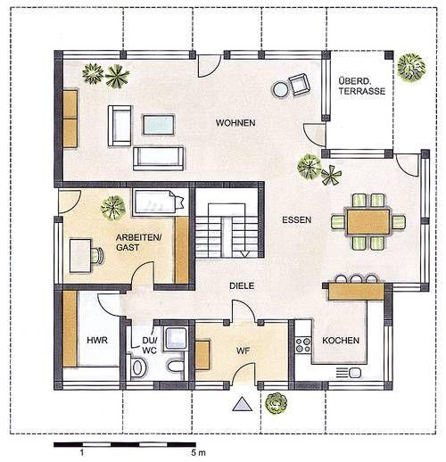 Stadtvilla grundriss 200 qm garage  Grundriss Erdgeschoss: DETMOLDER FACHWERKHAUS TYP 210 ...