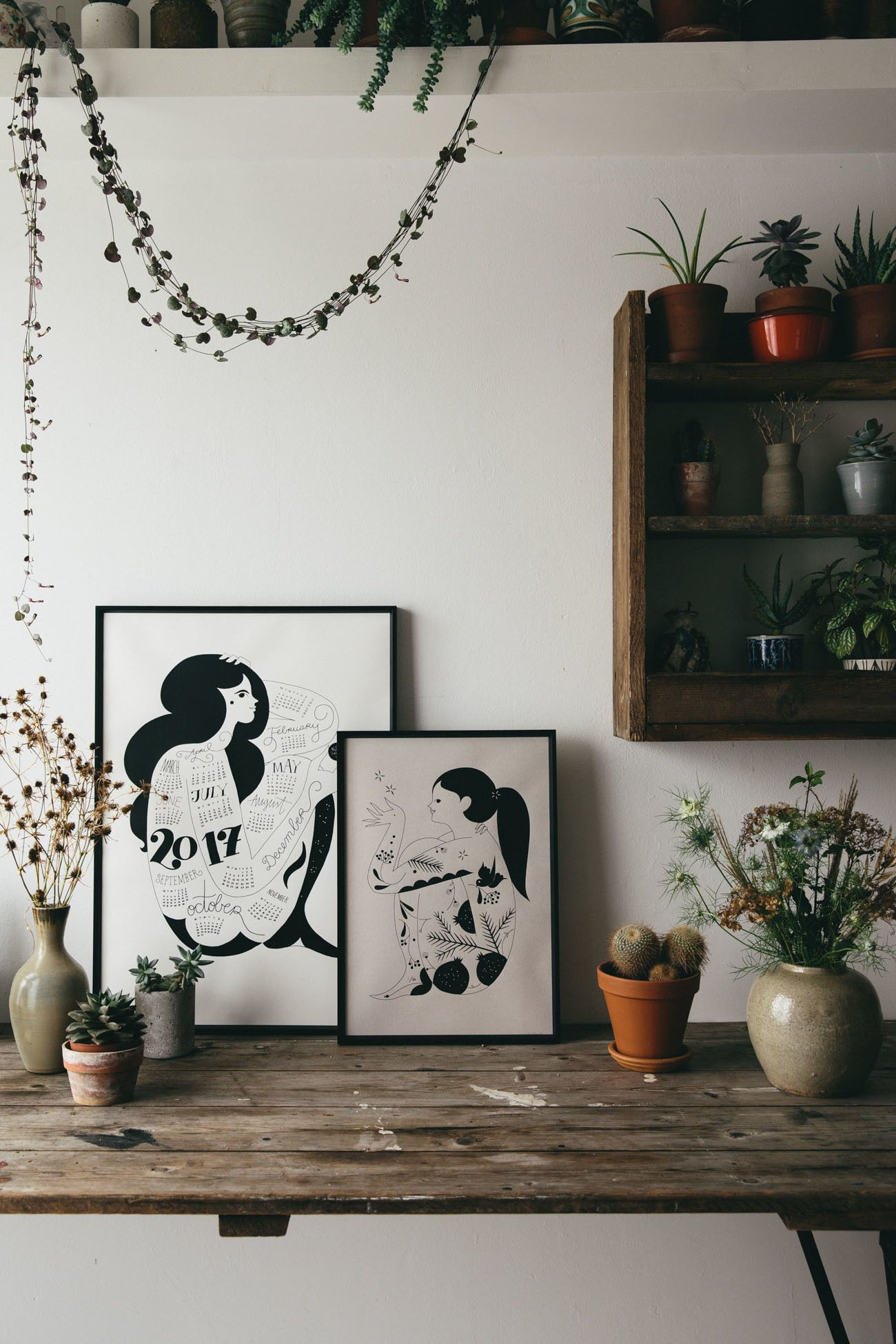 2017 Tattoo lady illustrated poster calendar