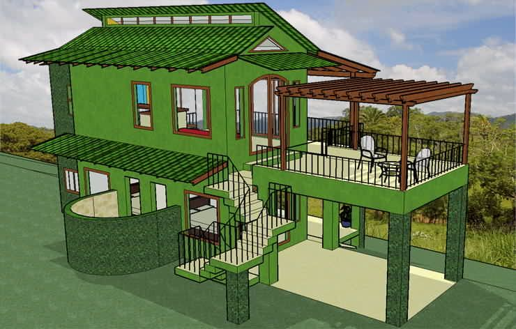 Casa Heliconia Pura Vida Sunsets Green House Design House Design Eco House