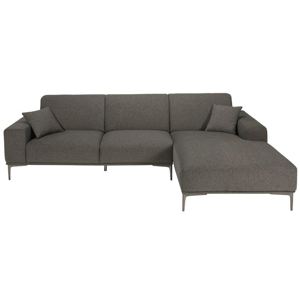Sofa Esquinero Derecho De 5 Plazas Gris Mezclilla Tokyo Canape Angle