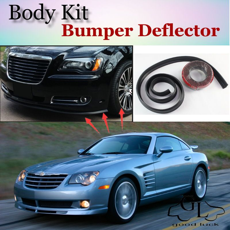 Bumper Lip Deflector Lips For Chrysler Crossfire Front Spoiler