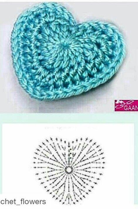 lanahobby.blogspot. com - crochet heart | Corazón | Pinterest ...