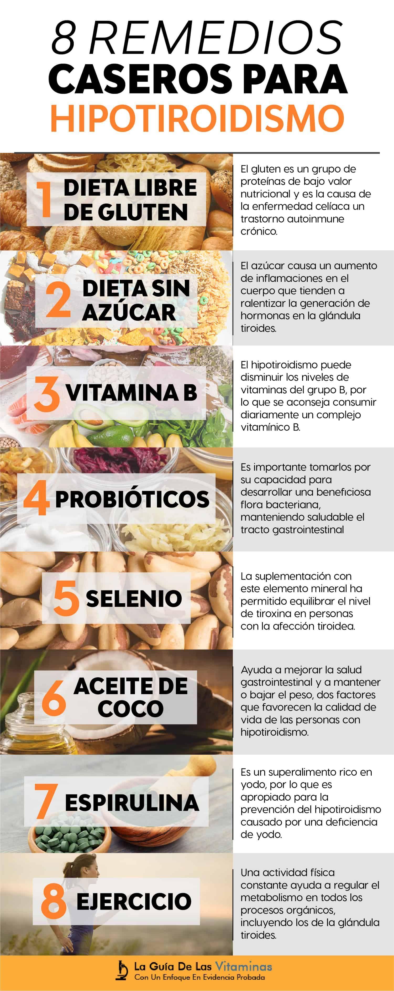 Alimentos beneficiosos para el hipotiroidismo