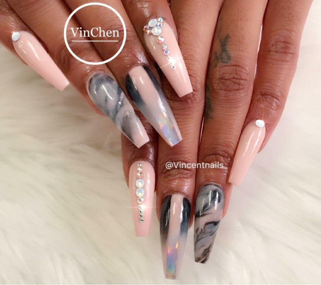 Pin by Latisha on CLAWS   Pinterest   Nail nail, Jewel nails and ...
