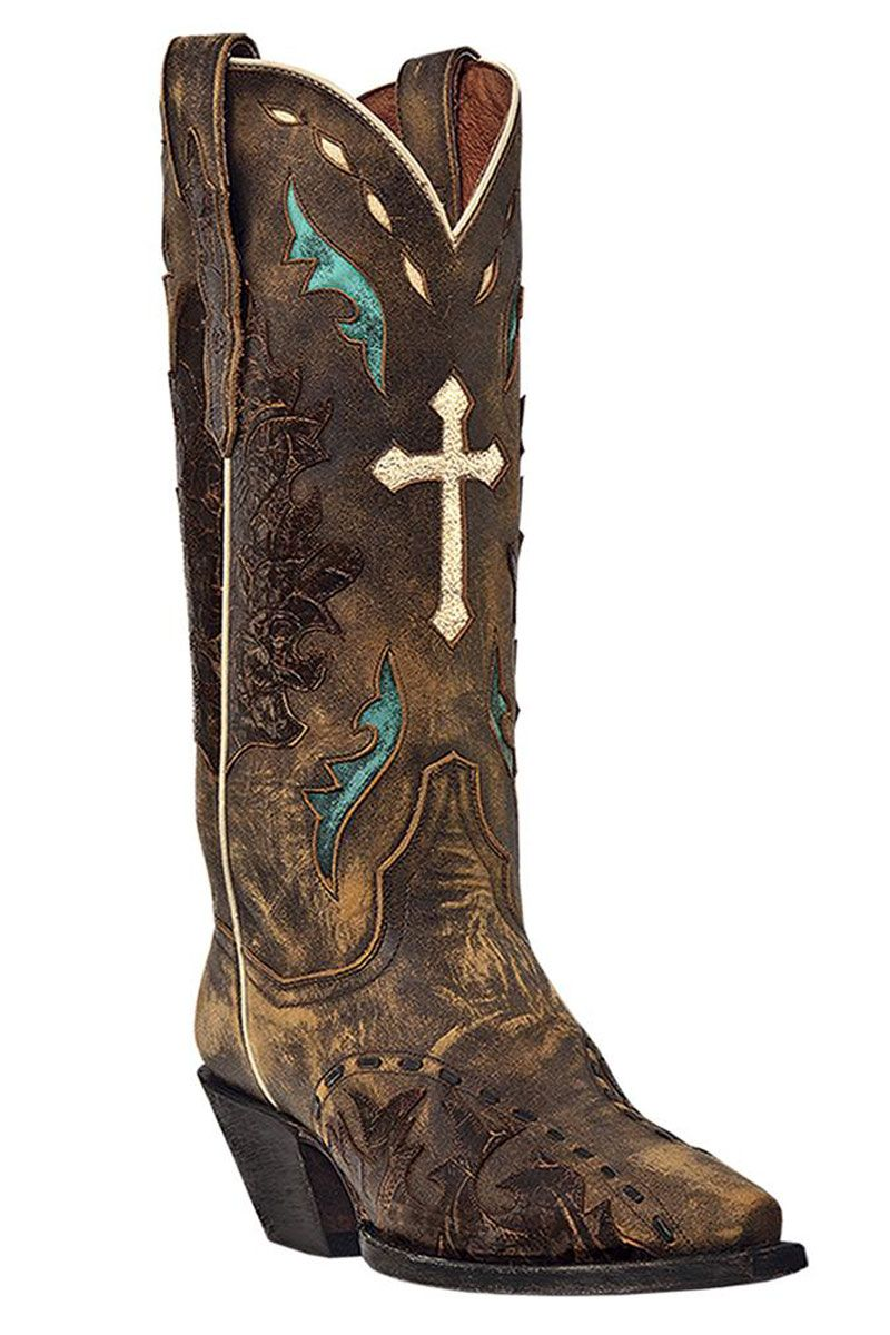 womens cowboy boots | Women's Dan Post Cowgirl Boots Tan Anthem ...