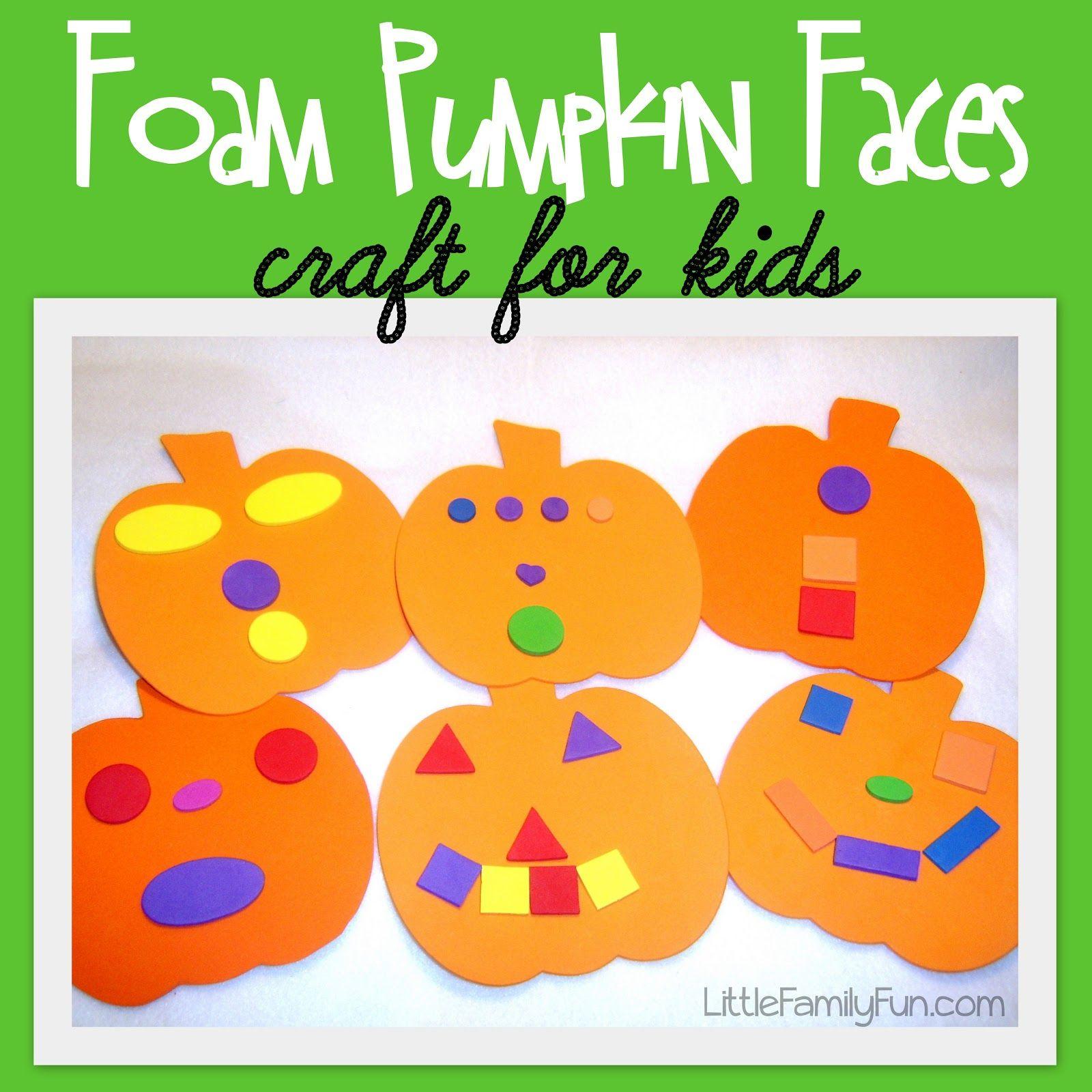 Foam Pumpkin Faces