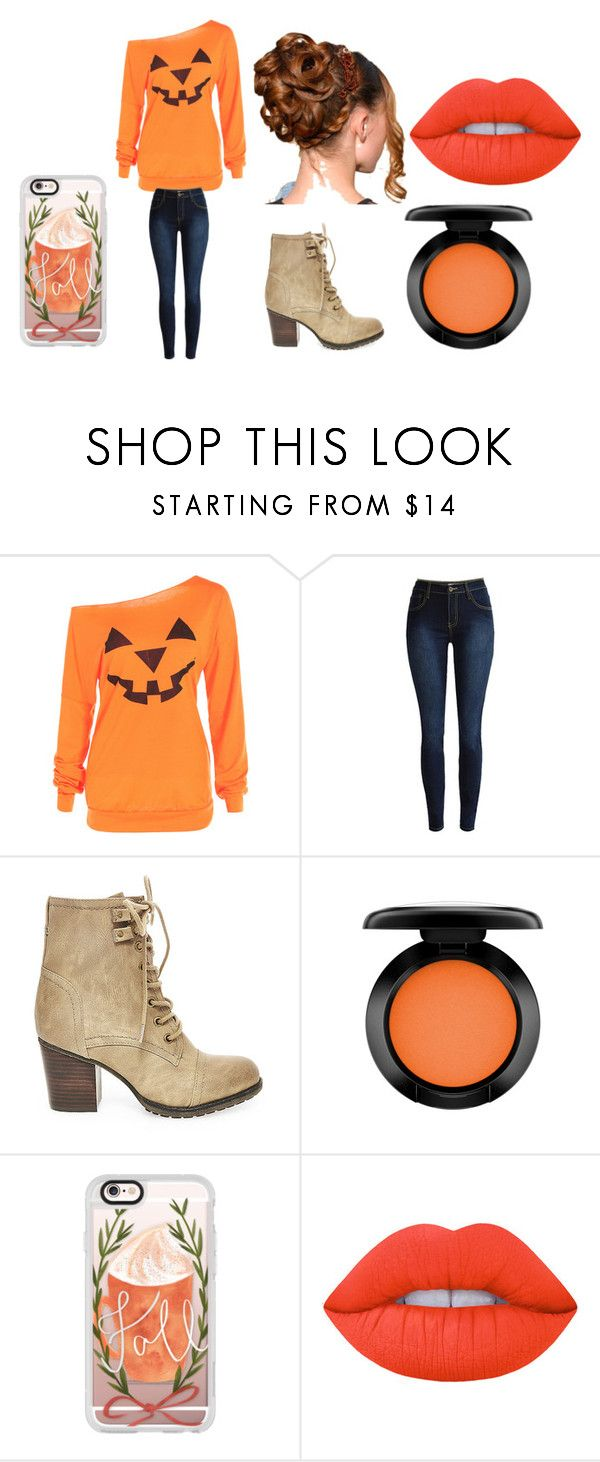 """Halloween Beauty"" by cabre8500 on Polyvore featuring Steve Madden, MAC Cosmetics, Casetify and Lime Crime"