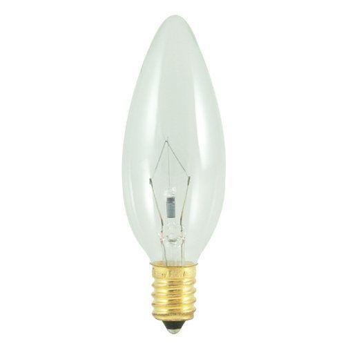 Bulbrite 400460 Pack Of 10 60 Watt Clear Dimmable B10 Shaped European E14 Ba Clear Bulbs Bulbs Incandescent Light Bulb Candle Bulbrite