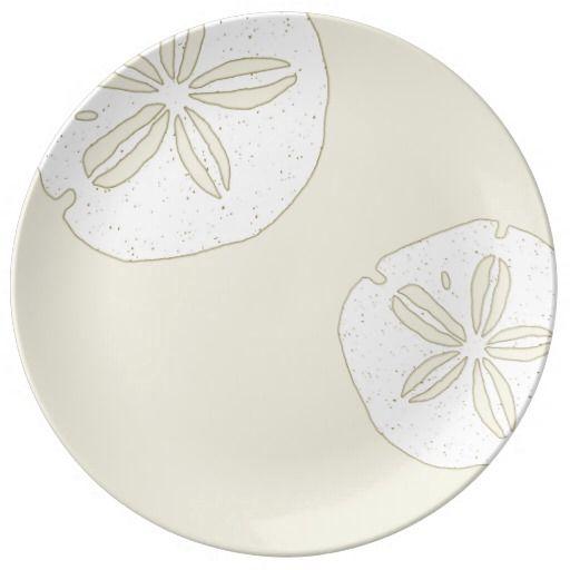 Sand Dollar Designer Dinner plates - porcelain  sc 1 st  Pinterest & Sand Dollar Designer Dinner plates - porcelain   Cool Crafts   Pinterest