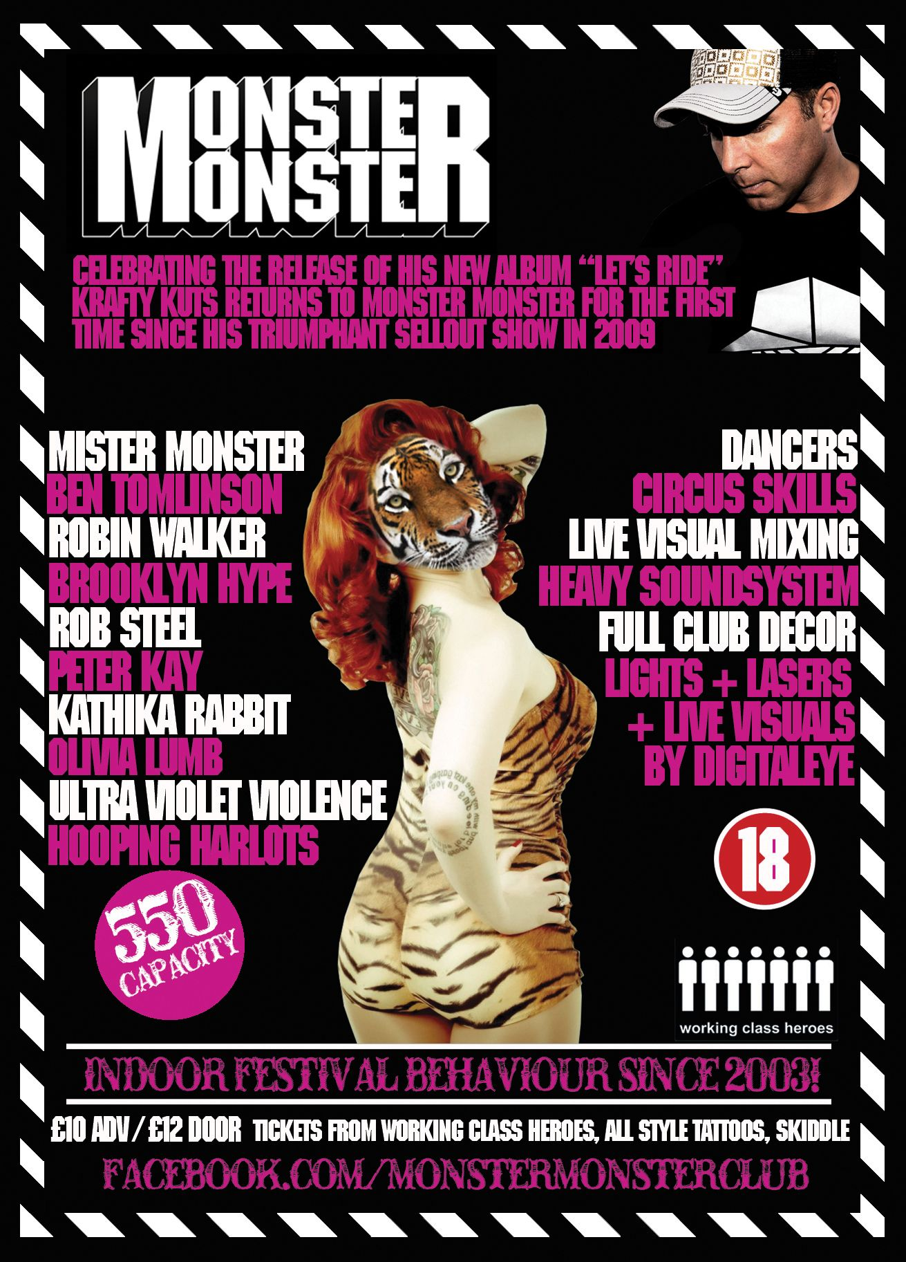 friday night live comedy flyer promotional flyer design monster monster flyer club night barrow example of a bad flyer there s too much going
