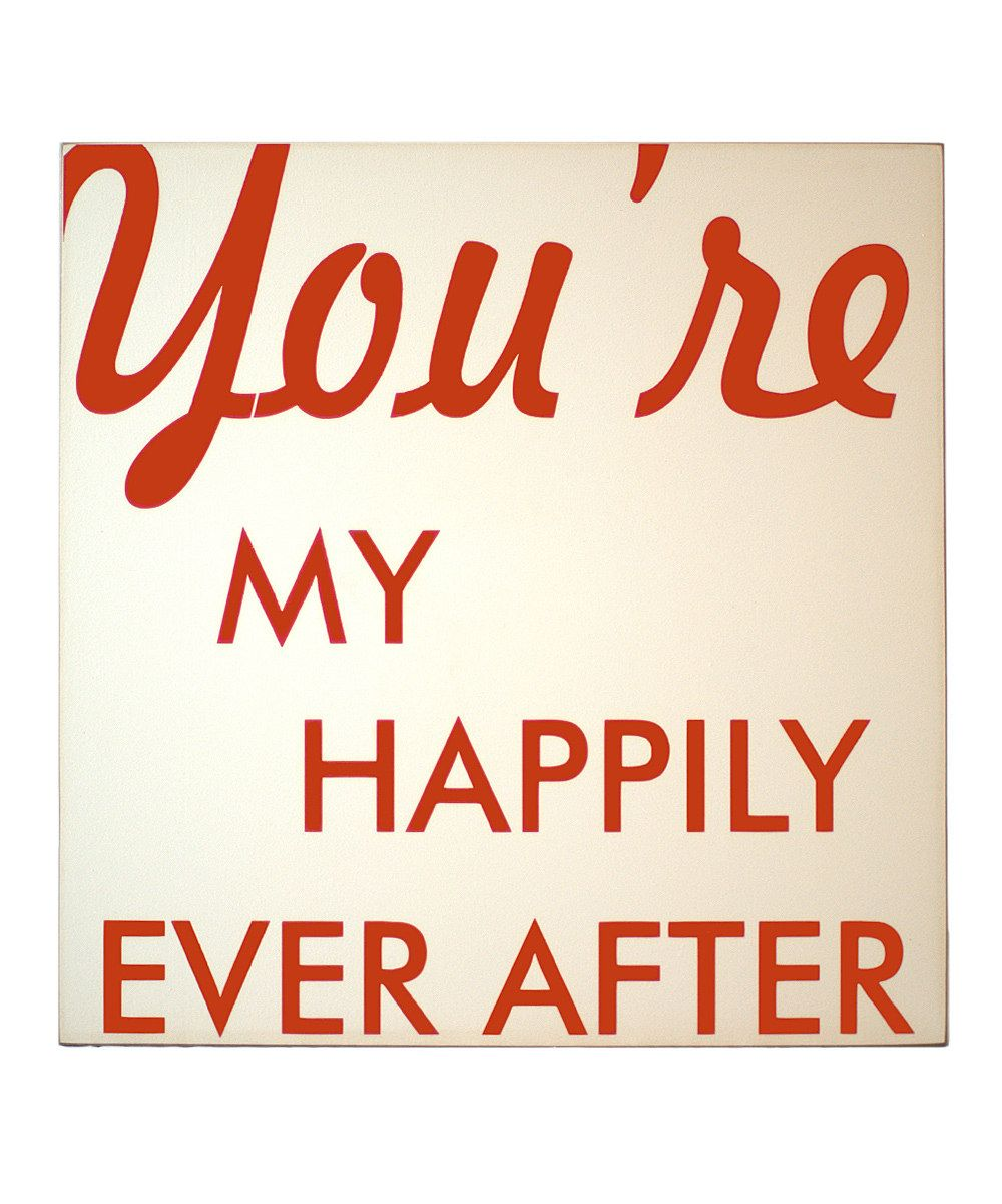 Vinyl Crafts Cream & Orange 'Happily Ever After' Wall Plaque