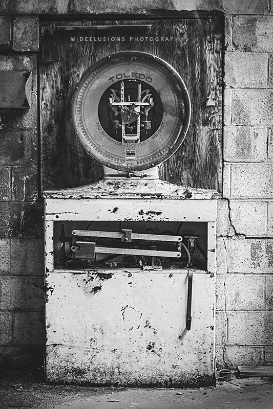 Toledo scale print urban exploration urban decay abandoned places industrial decor black and white industrial wall art gallery wall prints
