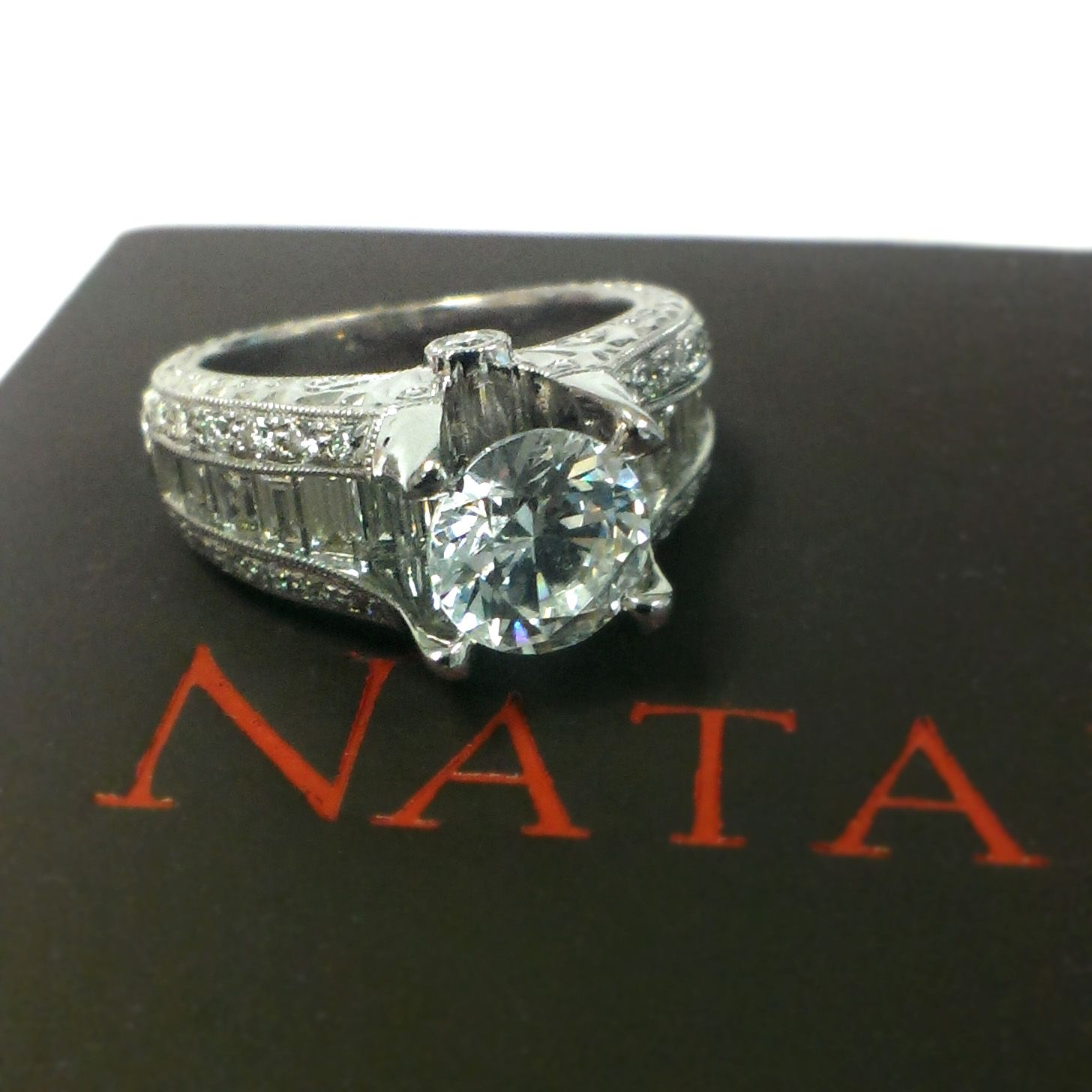 ring natalie style engagement rings stone three w k antique pin