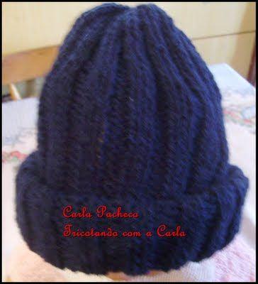 8a0d200b7a84d Tricotando com a Carla  GORRO MASCULINO - com receita Boina Em Trico
