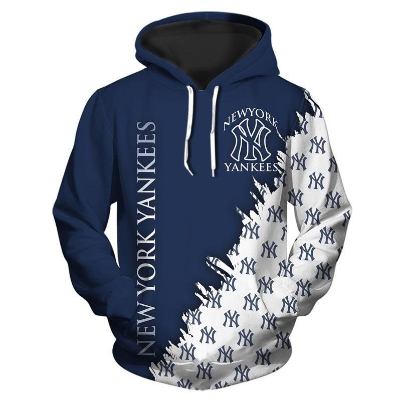 Mlb Hoodies 3d New York Yankees Hoodies Cheap Sweatshirt Jacket Pullover New York Yankees Apparel Hoodies New York Yankees