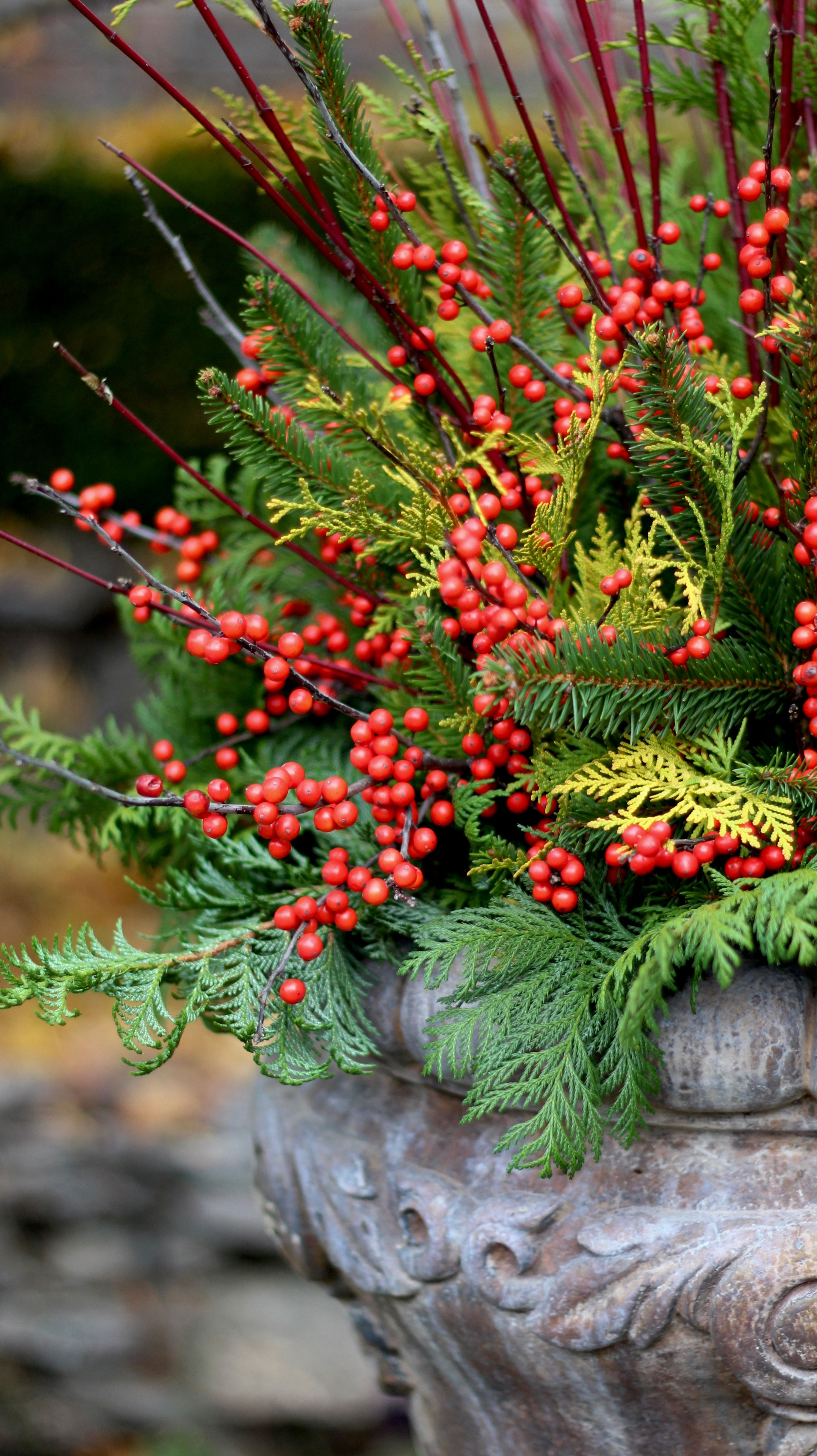 Design an amazing holiday urn for outside your front door ...