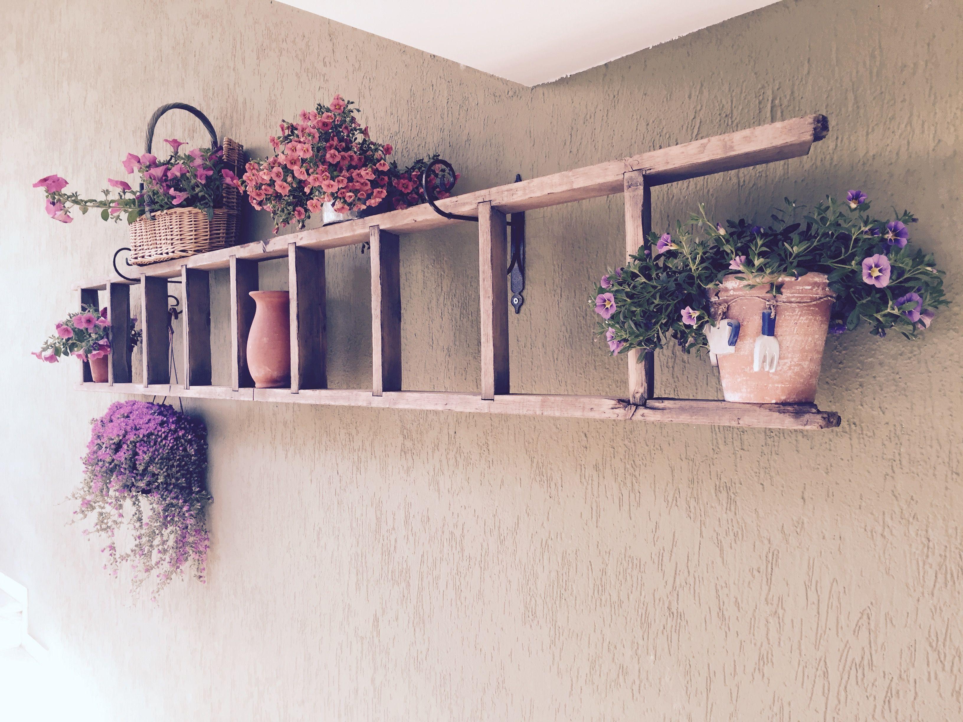 Scala Di Legno Decorativa riutilizzo e recupero di una vecchia scala di legno