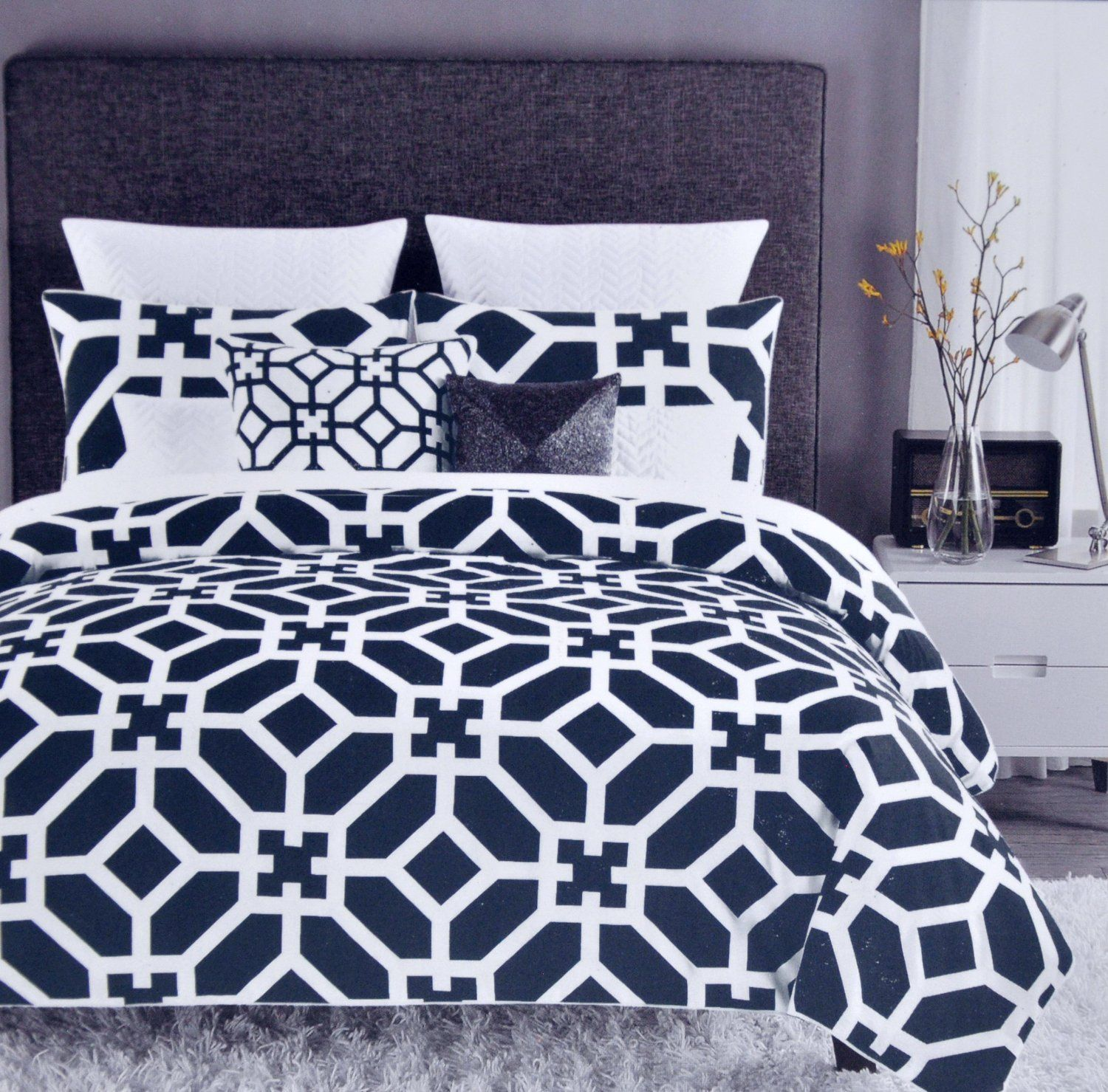 allyson products black cover new duvet pattern and aztec white lifestyle johnson