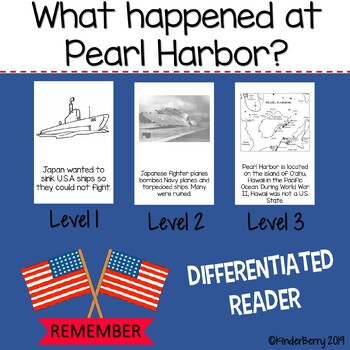 Pearl Harbor Reader Differentiated Social studies