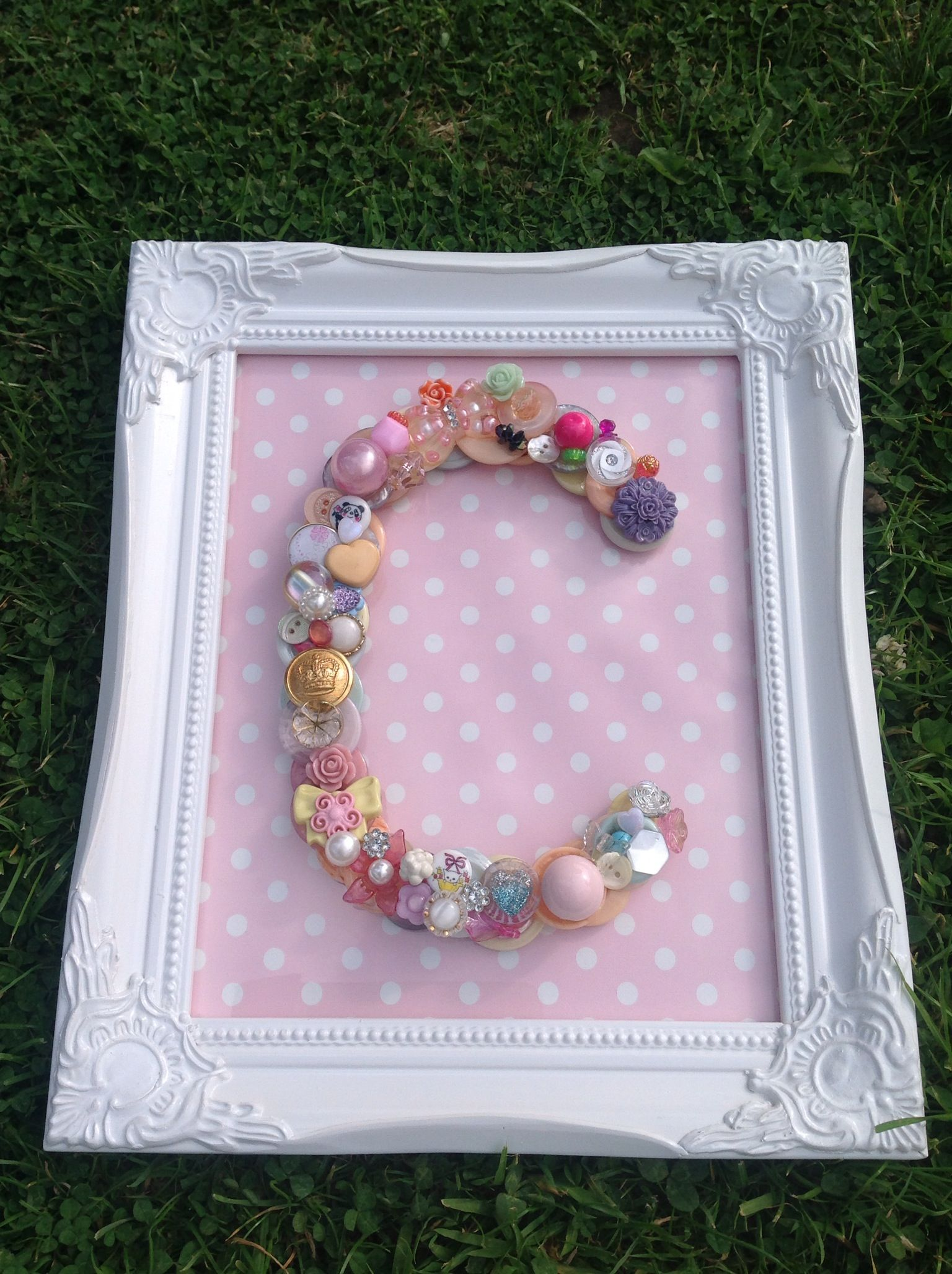 The Letter C In Buttons Letter C Button Art Learning The Alphabet
