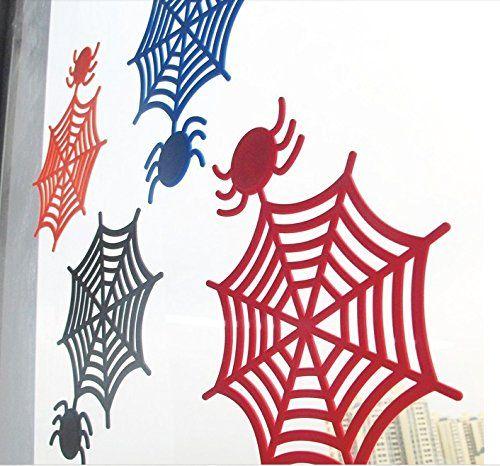 2PACK Spider Web Halloween Window Decoration selfclinging no - halloween window decorations