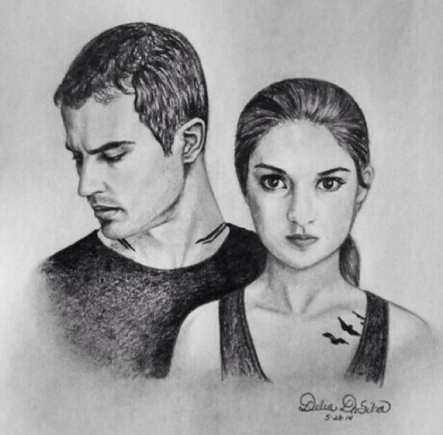 Isn't this drawing of Tris and Tobias AMAZING!   Divergent ...