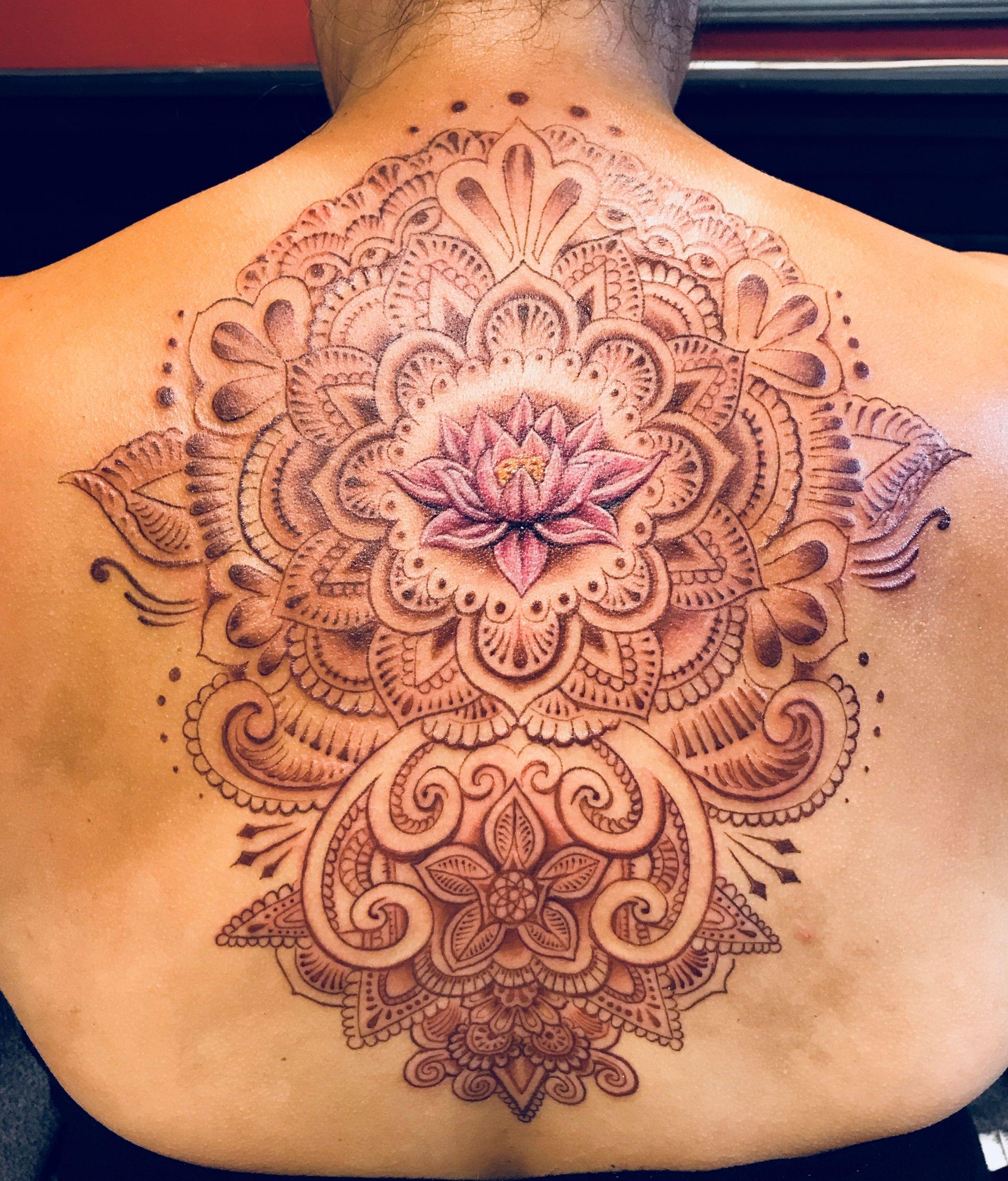Henna tattoo done in maroon ink henna tattoo lotus