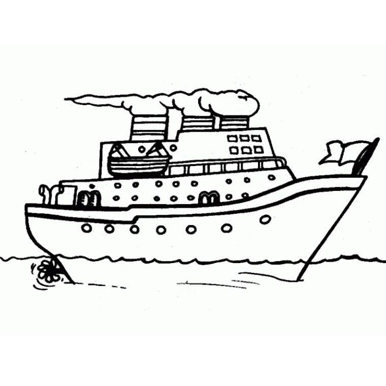 Le coloriage bateau de croisiere pour imprimer bateaux pinterest coloriage bateau - Dessin bateau enfant ...