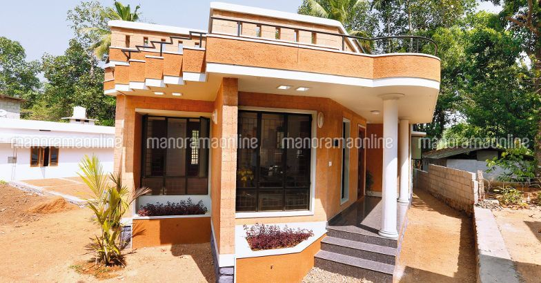 Interlock House 14 Lakh Front View Craftsman Style House Plans Traditional House Plans Small Cottage Homes