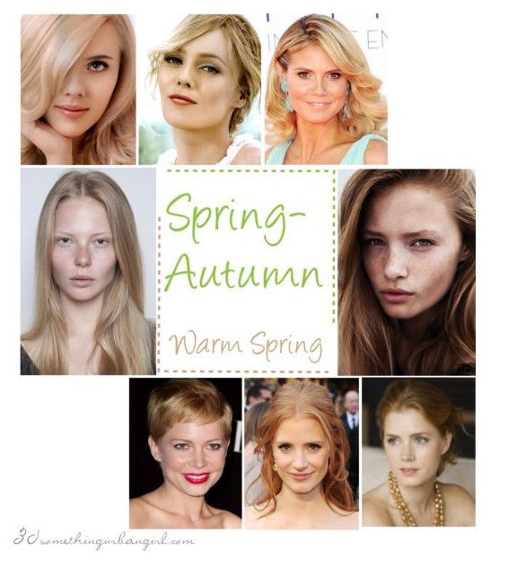 Are You A Spring Autumn Warm Spring 30 Something Urban Girl Warm Spring Colors Spring Hair Color Spring Hairstyles