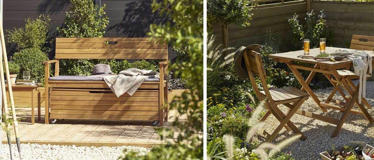 Meubles de jardin en bois Denia de Castorama : design et pas chers ...