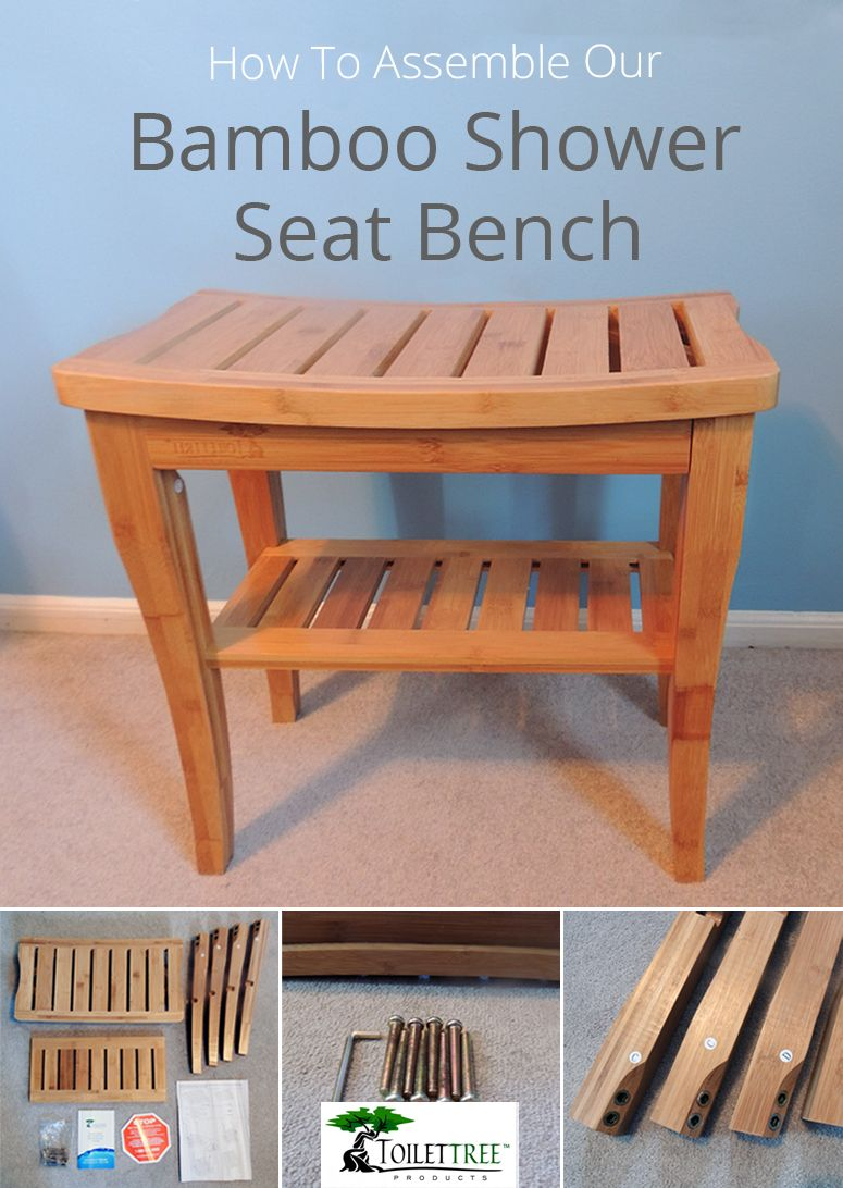 Bamboo Shower Seat with Shelf - DIY Guide | Shower seat, Shelves and ...