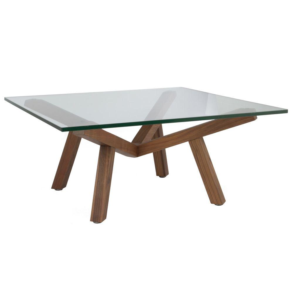 Matt Blatt Eames Coffee Table: ORIGINAL Sean Dix Forte Coffee Table Square Glass
