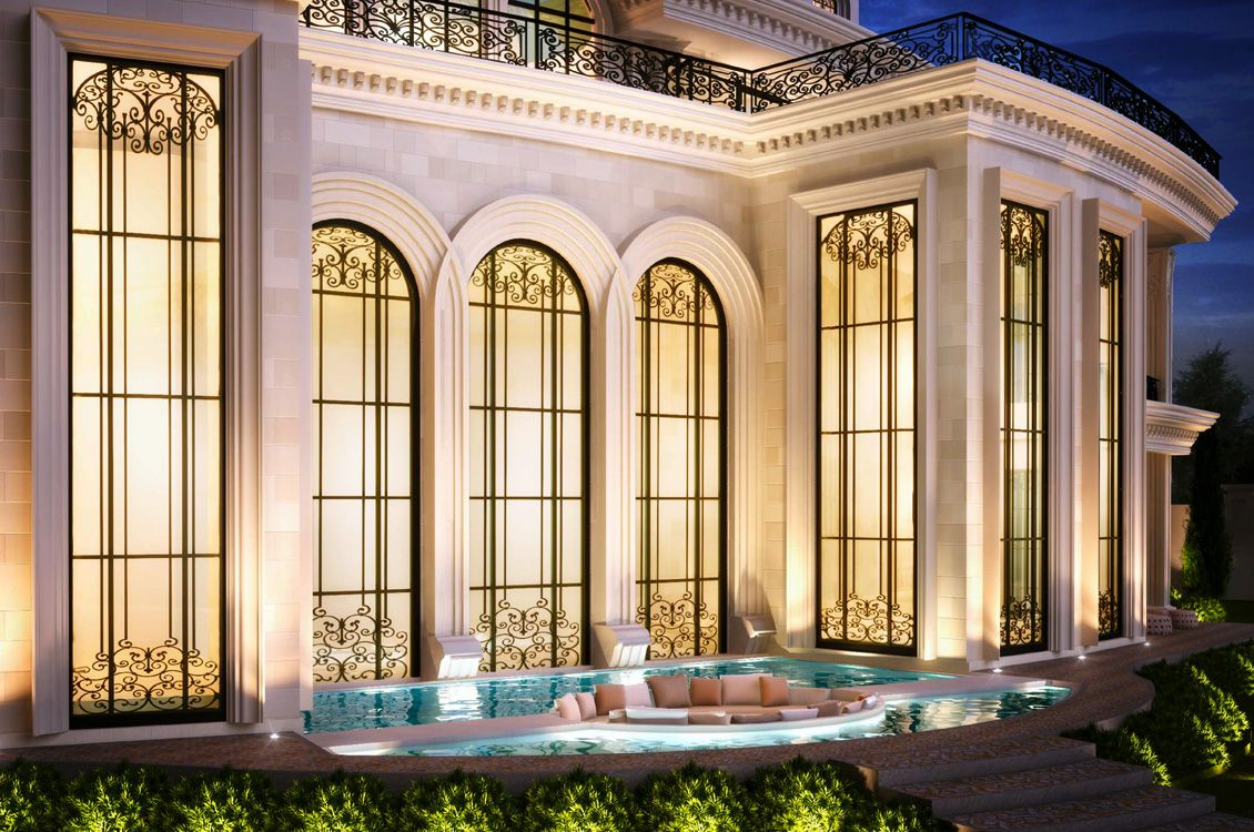 Front Elevation Villas Dubai : Private palm villa dubai elevation