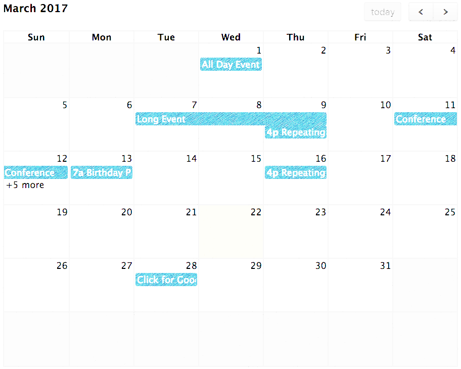 Laravel – Fullcalendar with Dynamic Data Working Example  In