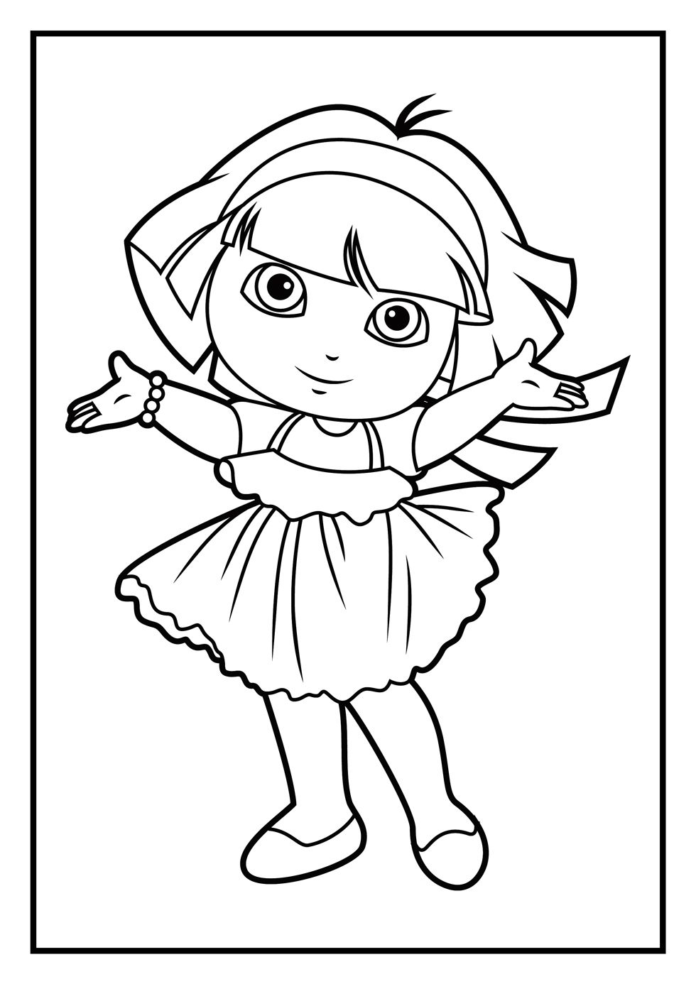 dora_coloring_pages1.jpg (980×1386) | KIDS: COLOURING BOOK ...