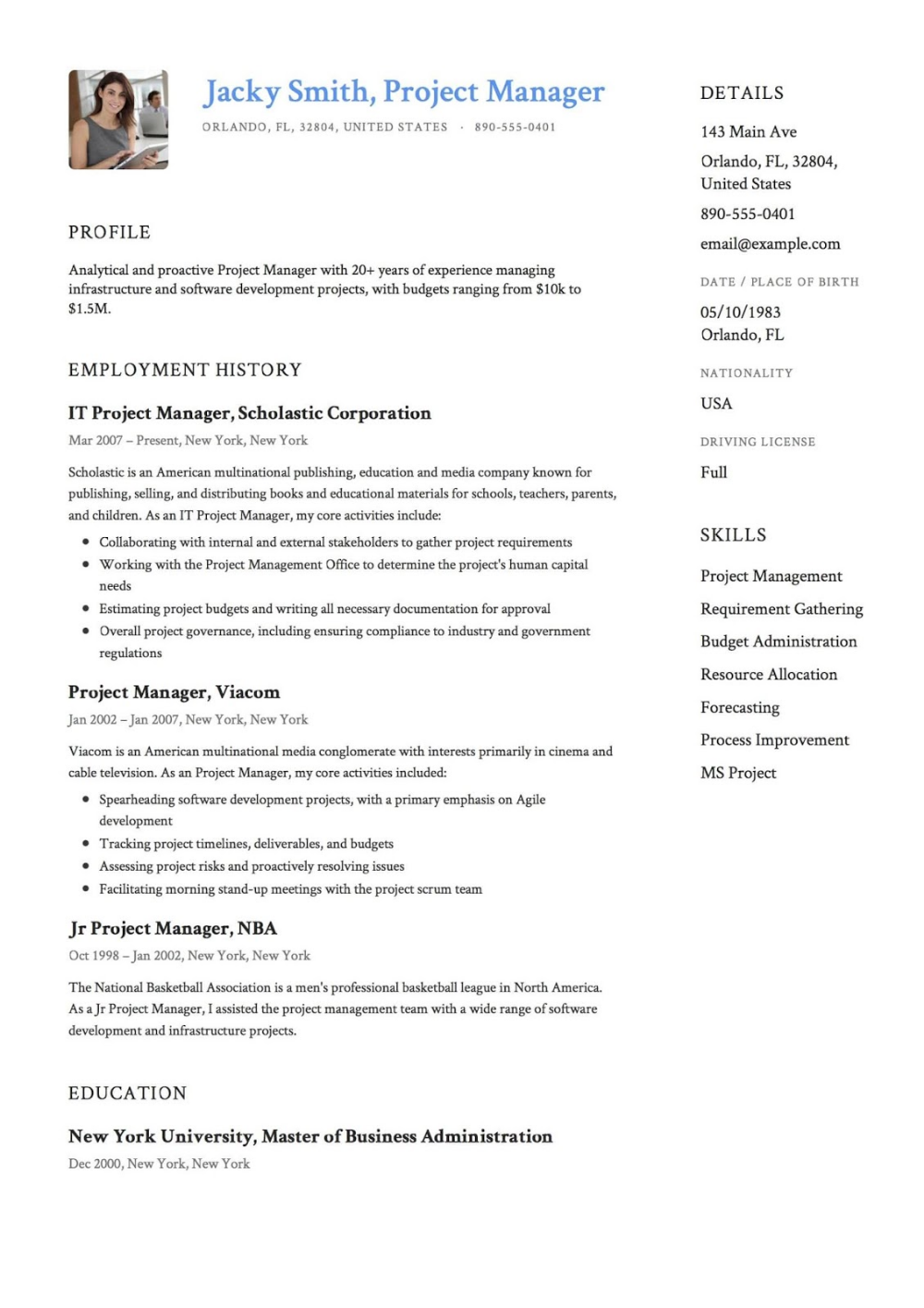 Pin on Resume Templates 2019