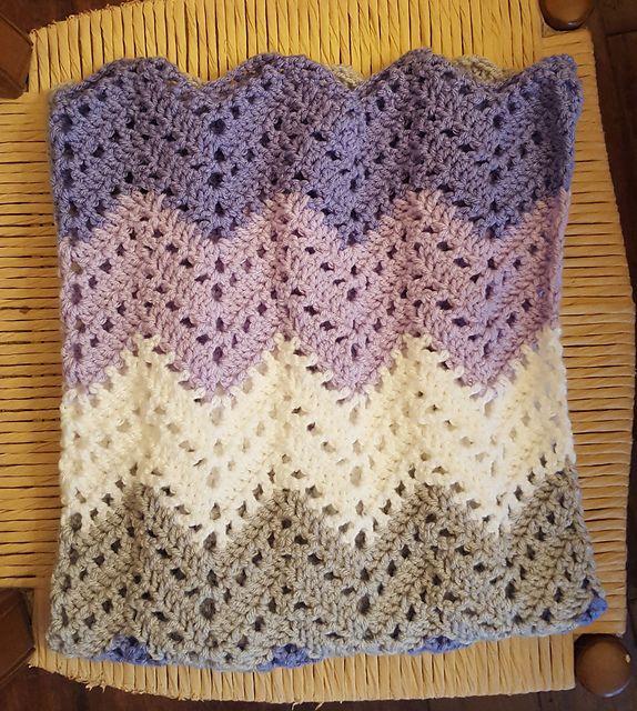 Lacy Ripple Afghan Blanket Free Crochet Pattern | Free Crochet ...