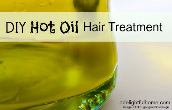 DIY Hot Oil Hair Treatment