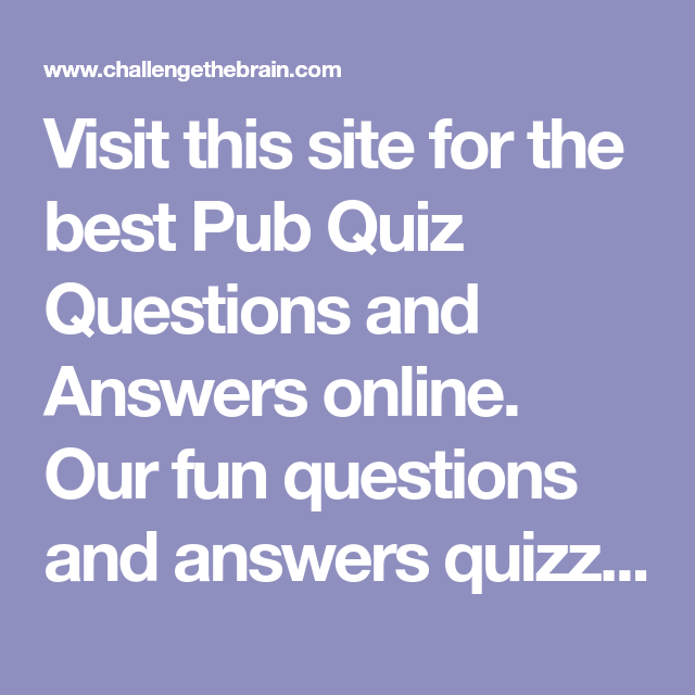 best fun quiz sites