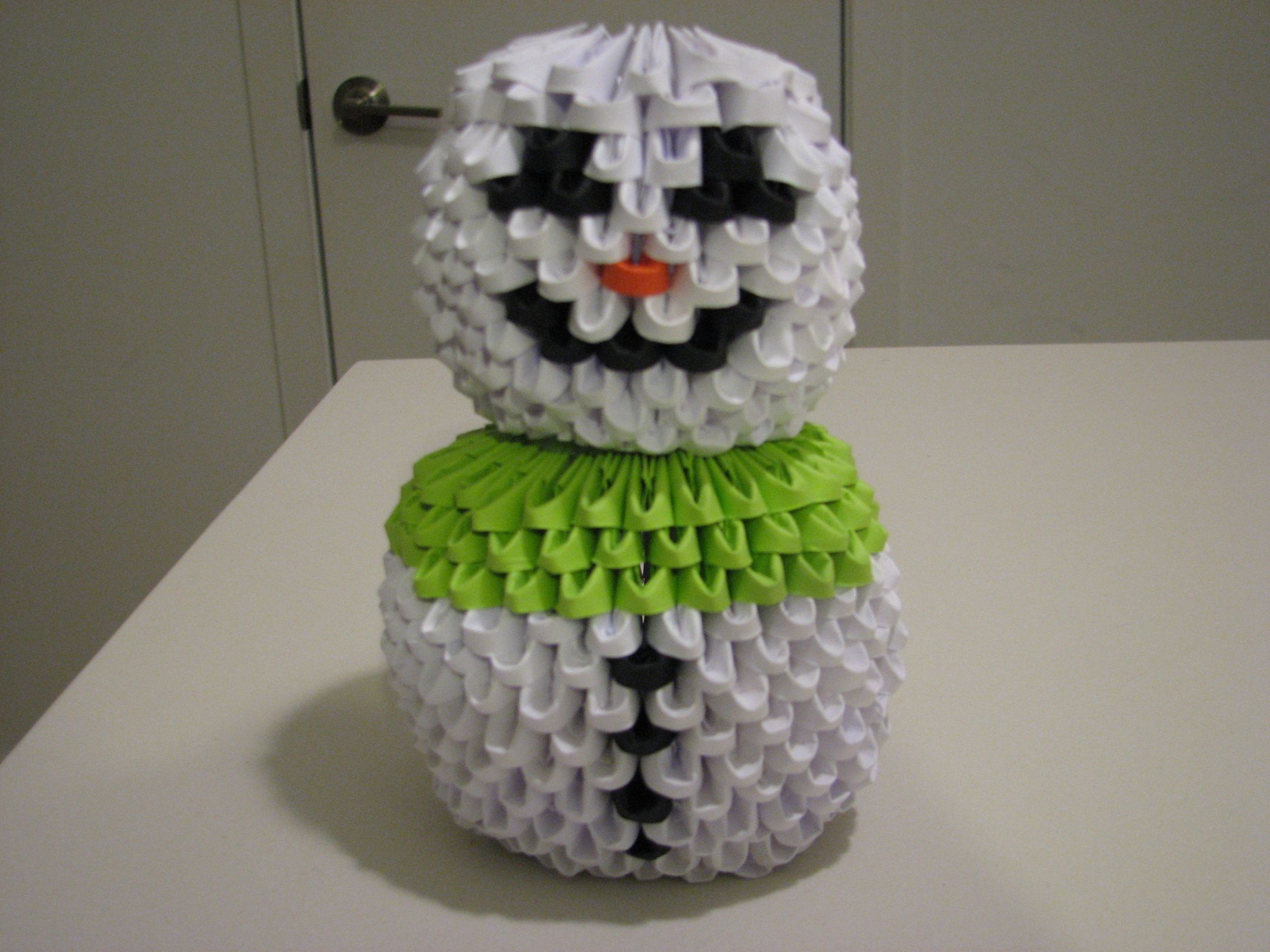 3d origami snowman by mvoie my 3d origami pinterest 3d 3d origami snowman by mvoie jeuxipadfo Images
