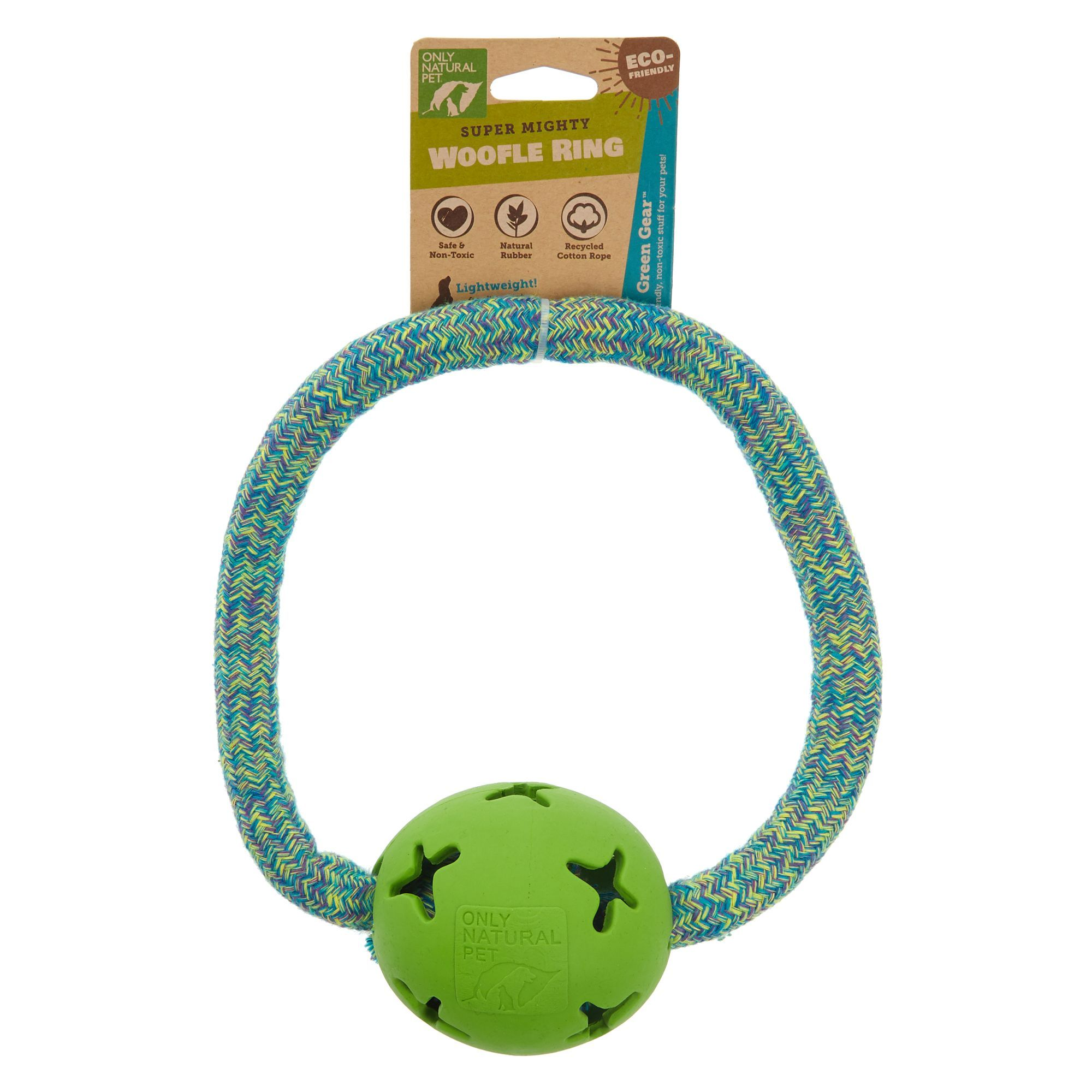 Only Natural Pet Super Mighty Woofle Ring Dog Toy Rope Natural