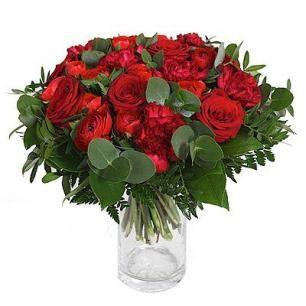 Red Roses, Carnation, Interflora, Finnish Flower Shop, March 2016