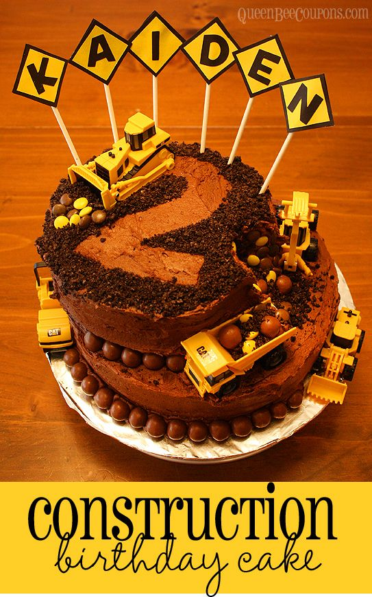 Strange Construction Cake Kids Birthday Cake Idea With Images Funny Birthday Cards Online Kookostrdamsfinfo