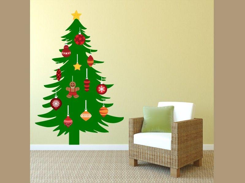 christmas tree printed wall decal etsy wallies decor off nativity ...