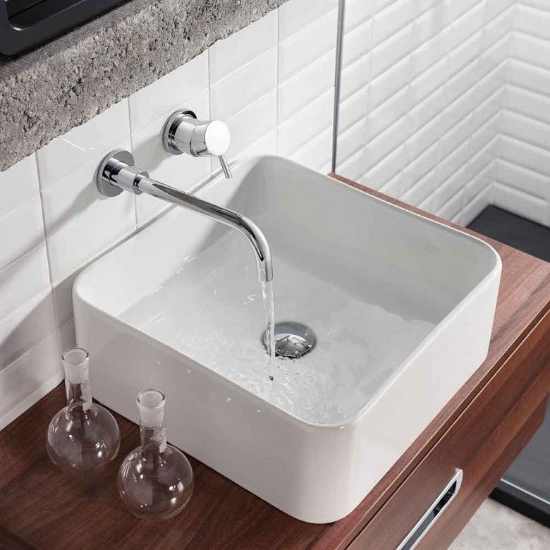 Crosswater Kai Lever Wall Mounted Basin Mixer Tap | Lever taps ...