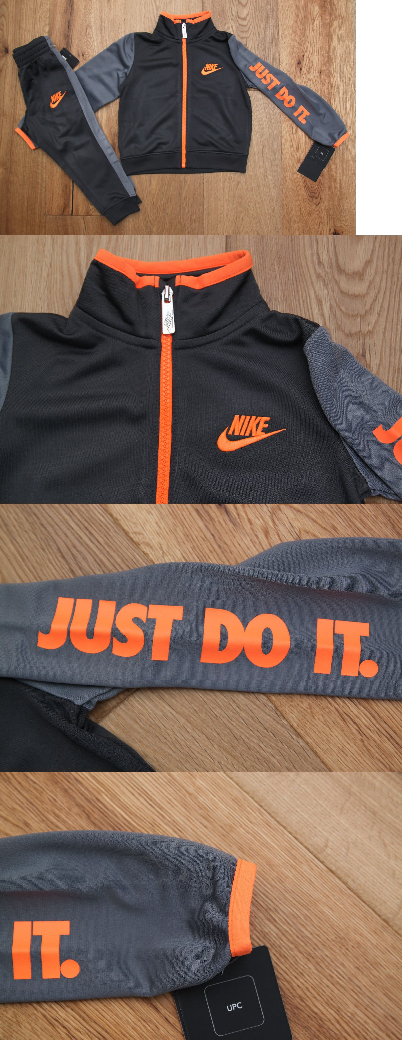 ae75d3358 Outfits and Sets 147333: Nike Toddler Boy 2 Piece Jogging Set ~ Tracksuit ~  Gray And Orange ~ Just Do It ~ -> BUY IT NOW ONLY: $34.97 on eBay!