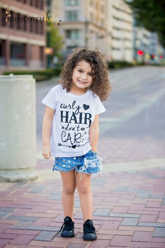 Curly Hair Don T Care Curly Hair Shirt Toddler Girls Tee