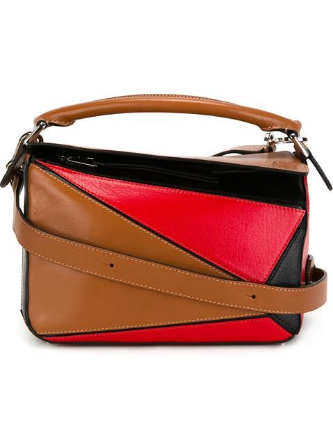 LOEWE Block Colour Shoulder Bag. #loewe #bags #shoulder bags #leather #